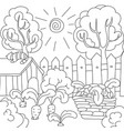coloring book carrots in the garden vector image vector image