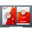 cover set red template for brochure banner vector image vector image