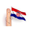 croatia flag waving vector image