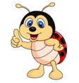 Cute ladybug cartoon thumb up vector image vector image