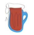 dark beer mug vector image