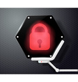 digital lock icon on the screen in the form of vector image vector image