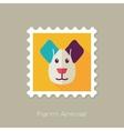 Dog flat stamp Animal head vector image vector image