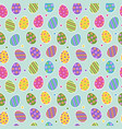 Easter egg seamless pattern background with cute