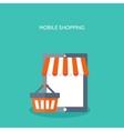 Flat header Shopping E- vector image vector image