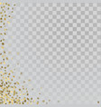 gold 3d stars on transparent background vector image vector image