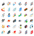 good design icons set isometric style vector image vector image