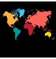 Graphic color map of the world vector image