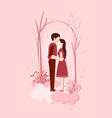 happy valentines day with paper cut valentines vector image