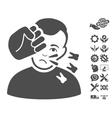 Head Strike Icon With Tools Bonus vector image vector image
