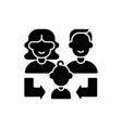 heredity black glyph icon vector image