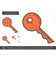 house key line icon vector image vector image