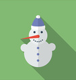 Icon of Christmas SnowMan Flat style vector image