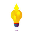 idea arrows from the lamp flat vector image