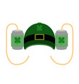 isolated drinking hat icon patrick day vector image
