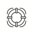 life buoy icon line lifebelt symbol isolat vector image