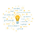 light bulb and science ideas vector image vector image