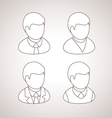 Line User Icons avatars vector image
