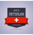 Made in Switzerland badge vector image vector image