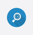 magnifier Flat Blue Simple Icon with long shadow vector image vector image