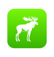 moose icon digital green vector image vector image