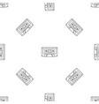music casette pattern seamless vector image