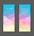 narrow vertical banners with realistic pink vector image