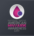 national native american hiv aids awareness day vector image