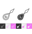 needle threader simple black line icon vector image