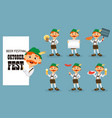 oktoberfest beer festival funny redhead man vector image