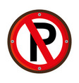 parking prohibited traffic signal vector image vector image