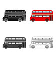 passenger bus single icon in cartoonist vector image vector image