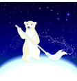 polar bear cleans ecology in arctic vector image