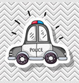 police car transportation patches design vector image vector image