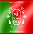 portugal background design portuguese national vector image