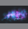 realistic colored blue purple and pink smoke vector image