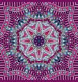 repeating geometric doodle design mandala pattern vector image vector image