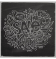 Sale hand lettering On Chalkboard vector image vector image
