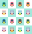 Seamless christmas pattern with owls vector image vector image