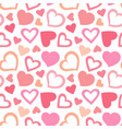 seamless love pattern on white background endless vector image vector image