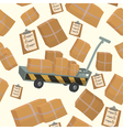 Seamless Pattern with Boxes and Containers vector image vector image
