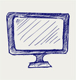 Seen on TV icon vector image vector image