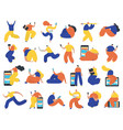 set business people flat icons flat style vector image vector image