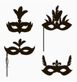 set of carnival face masks icons vector image