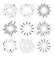 set sparkles and bursts minimal design vector image vector image