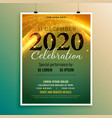 stylish invitation flyer for new year eve vector image vector image
