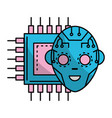 technology digital face vector image vector image