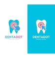 tooth and click logo combination Dental vector image vector image