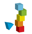 tower collapse vector image