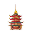 traditional japanese chinese asian pagoda vector image vector image